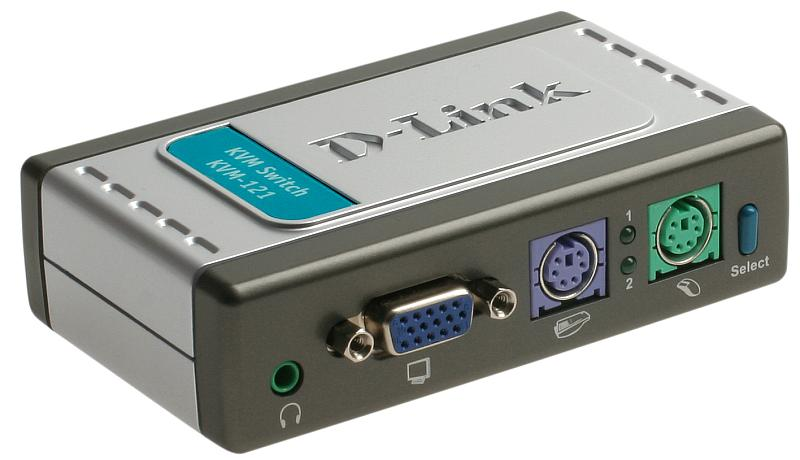 KVM Переключатель D-Link KVM-121 2-port KVM Switch PC/2